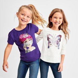 $1.99起还包邮Children's Place 儿童T恤低至1.9折热卖