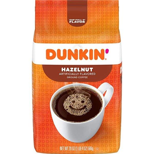 Dunkin' 榛子口味咖啡粉 20oz 6包