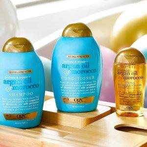 低至6.7折 £4.6入摩洛哥洗发水闪购:OGX 美国高端口碑护发 摩洛哥、椰奶、发质受损系列都有