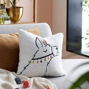 5折起 $20收封面可爱羊驼款Simons 高颜值小众抱枕 给家增添一丝温暖色彩 舒服每一天
