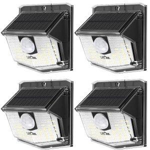 $16.49LITOM Solar Lights Outdoor, IP67 Waterproof Solar Motion Sensor Light