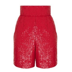 High-Waisted Sequin Shorts by Rasario