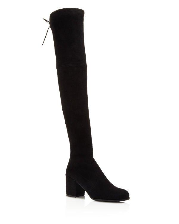 Tieland 麂皮过膝靴