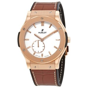 HublotClassic Fusion Classico Ultra Thin18k Rose Gold Hand Wound 42mm Men's Watch 545.OX.2210.LR