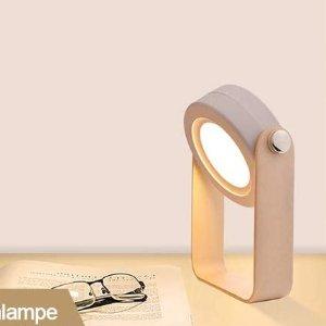 折后€19.54 高颜值多用灯Tesecu 便携式LED木质小夜灯 3档亮度 可伸缩可手持可充电