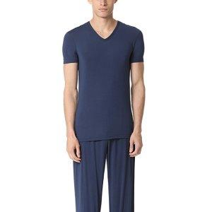 Calvin Klein UnderwearShort Sleeve V领 家居服短袖