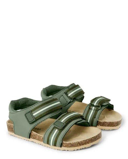 男童条纹凉鞋