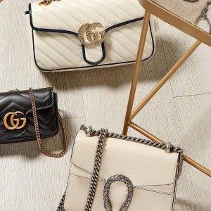 低至5折+定价优势 £553收酒神斜挎包Gucci 大促开启 小白鞋、双G包、乐福鞋都参加 超低价