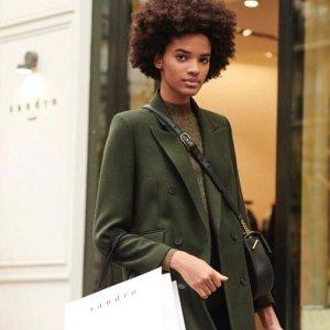 低至4折Sandro 新款秋冬美衣大促热卖 法式小清新