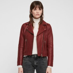 低至5折+额外8折  £166收封面款即将截止:AllSaints 全场男女皮衣热卖 正价款也参与别错过