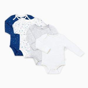 Night Sky Kimono Baby Bodysuit Multipack | MORI