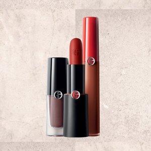 满额8.5折+大部分州免税+送礼卡独家:Armani 彩妆护肤品热卖 收红管、新款气垫
