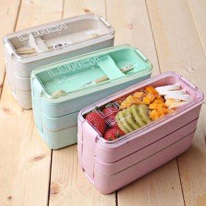 $8.38独家:The Apollo Box 3层便当饭盒,3色可选