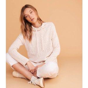 LOU & GREYMarlknit Drawstring Neck Tunic Sweater