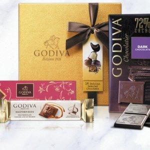 低至3折或买1送1 45p入巧克力棒Godiva 精选巧克力礼盒、饼干促销 经典高端巧克力