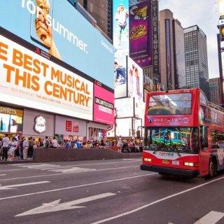 低至$15.5 官网价3.5折纽约TopView双层巴士夜景观光游