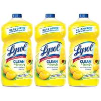 Lysol 多效杀菌清洁剂补充装 柠檬花香 40oz x3瓶