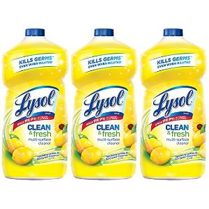补货:Lysol 多效杀菌表面清洁剂补充装 柠檬花香 40oz 3瓶
