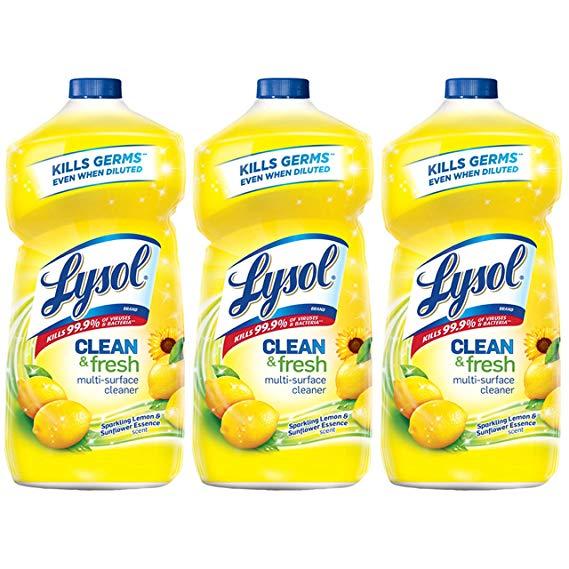 多效杀菌表面清洁剂补充装 柠檬花香 40oz 3瓶