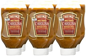 Heinz BBQ Sauce, Carolina Mustard Style BBQ Sauce, 18.7 ounce squeezable bottle(Pack of 6