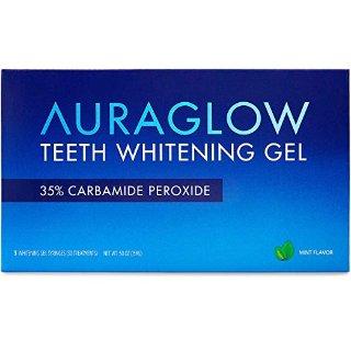$14.99(原价$22.99)Auraglow 牙齿速效牙齿美白凝胶 替换装 3支