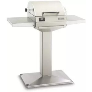 Fire Magic E250S1Z1EP6 42 Inch Electric Pedestal Grill with Thermostatic Controls, Warming Rack Large, Heating Element, 252 sq. in. Cooking Area and Precision Thermostatic Control System