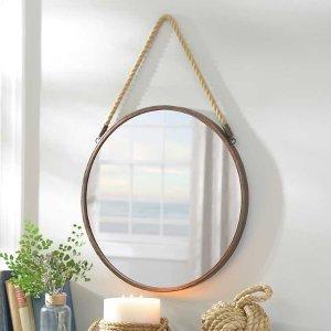 Metal Rope Wall Mirror