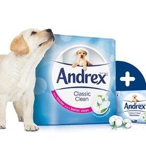 68折起,54卷装只需£23英亚精选 Andrex 等舒柔卫生纸、湿巾特卖