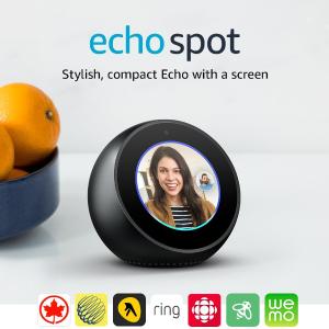 $144.99 (原价$169.99)亚马逊 Echo Spot 智能音箱 黑色