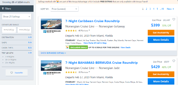 Norwegian Cruise Line SAVINGS EVENT @AvoyaTravel Up to 76% Off+Free