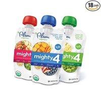 Plum Organics Mighty 4, 有机儿童果泥,4盎司,18袋