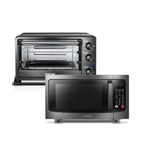 【东芝精品厨具】微波炉+机械小烤箱
