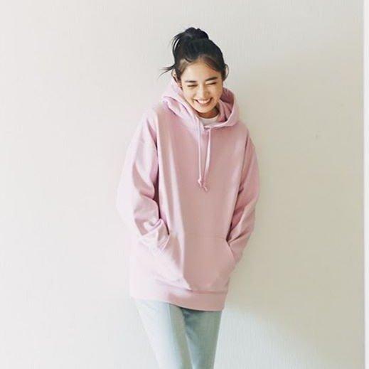 蔷薇粉 卫衣
