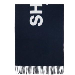 仅$98 (原价$325)清仓价:川久保玲 黑色百搭羊绒围巾 变相3折
