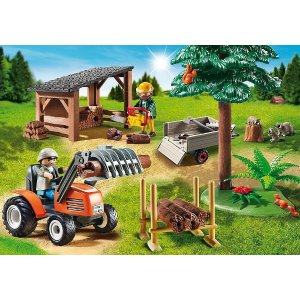 PLAYMOBIL®Lumber Yard with Tractor
