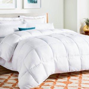 Queen尺寸只要$29.75史低价:LinenSpa 超舒适防过敏仿鹅绒被 多色多尺寸可选