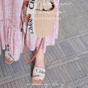 满额78折 €230收封面同款凉鞋Chloe 新品大促开始 收菜篮子、网红拖鞋、墨镜、花瓣鞋等