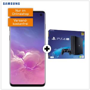 相当于免费送三星S10和PS4霸哥来了:Samsung Galaxy S10 + PS4 Pro + 18GB LTE 超值合同 包月电话、短信、18GB上网