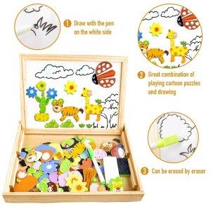 €11.83 (原价€30.99)COOLJOY 儿童学前字母画板、拼图玩具