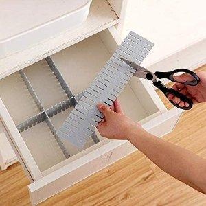 8片售价€10.99 井井有条WeFoonLo 塑料抽屉分隔器 整理收纳袜子、内衣、化妆品