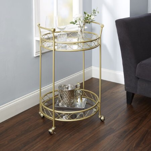 Better Homes & Gardens Mirabella Bar Cart, Gold
