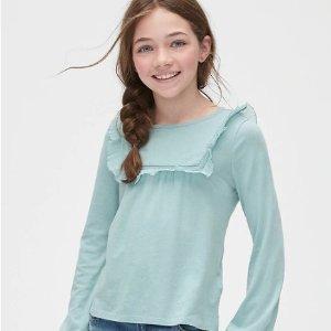 低至5折+6折+额外9折最后一天:GAP Kids 儿童特价区折上折 封面T恤$10.79