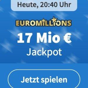 周二/五开奖 2注机会只要€6EuroMillions 彩票奖金累计1700万欧 单车秒变摩托