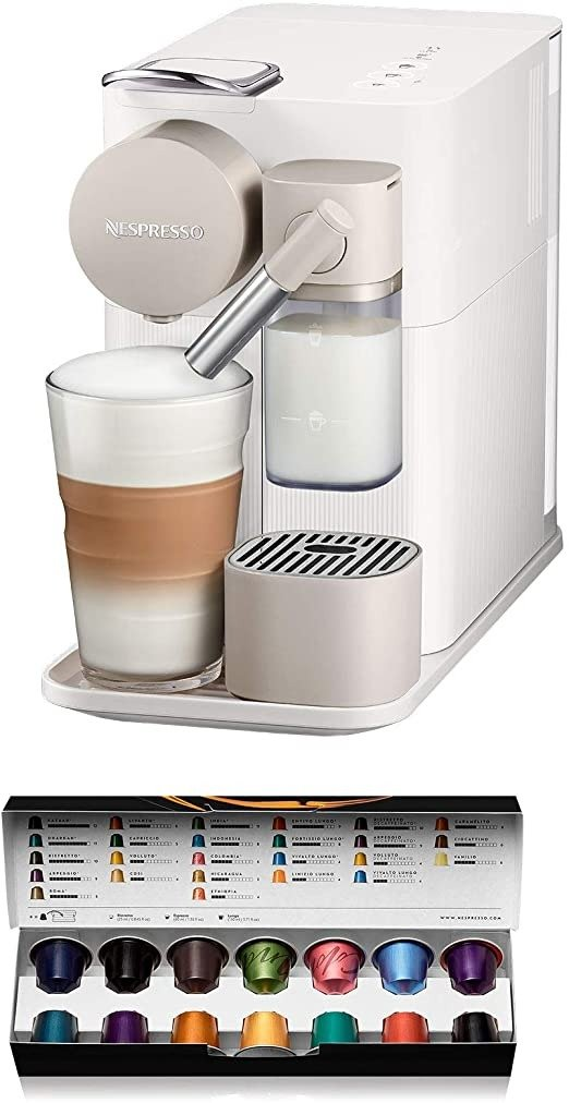Nespresso Lattissima One 胶囊咖啡机 EN500W, White