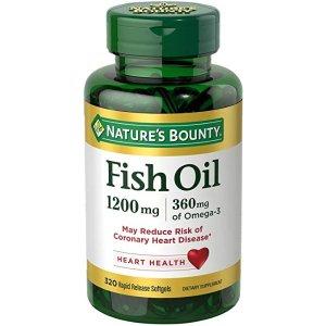 Nature's BountyOmega-3 鱼油 1200 mg, 320粒