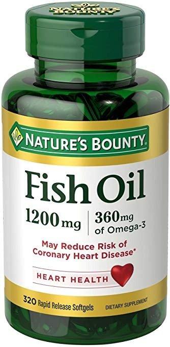 Omega-3 鱼油 1200 mg, 320粒