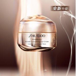 Shiseido抗皱技术结合新添水肽因子 抗初老必备盼丽风姿智感抚痕眼霜15ml
