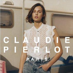 经典美衣史低到手CLAUDIE PIERLOT 折上8折 法式淑女风大促 相当于原价4折
