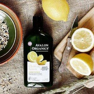$14(原价$19.98) 仅$7/瓶Avalon Organics 柠檬清爽洗发水 325ml 2瓶装 祛除头皮油脂