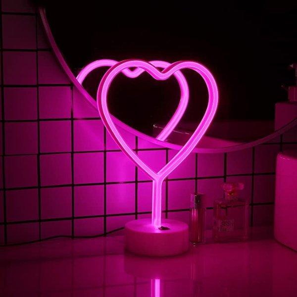 TM 粉色LED爱心装饰灯